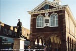 Statue of Sir Robert Peel in front of the Town Hall in Tamworth
