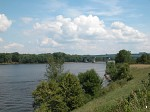 Mississippi River at La Crosse on the border between Wisconisn and Minnesota