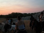 Evening horse ride at the Badlands, South Dakota