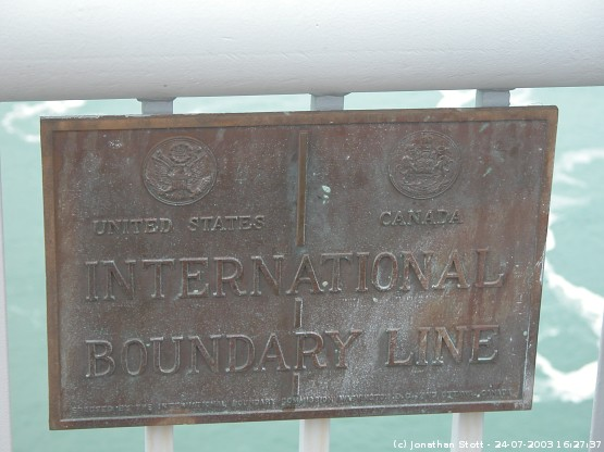 Niagara Falls - International boundary line between Canada and the United States