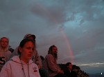 Rainbow at sunrise at the Grand Canyon