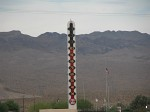 Baker, California - Gateway to Death Valley. Tallest thermometer in the world, reading 101�F!