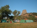 Campsite at Devils Tower
