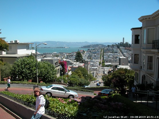 Lombard Street, San Francisco - the twistiest street in the world