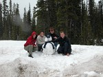 Building a snowman - something I've not been able to do in May in Britain, let alone in the deep of winter for many years!