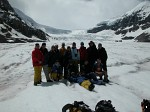 The group on the Athabasca Glacier