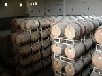 Barrels of wine at the Tinhorn Creek winery (each barrel is over 1m diameter!)