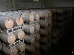 Barrels of wine at the Tinhorn Creek winery