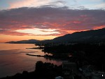 Sunset from the Lions Gate Bridge in Vancouver