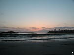 Sunset over the sea in Tofino
