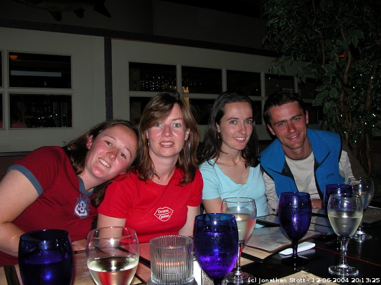 Meal on the last night - Ali, Rene, Vikki and Ken (from left to right)