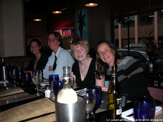The last night - Rianna, Marion, Nicola and Suz (from left to right)