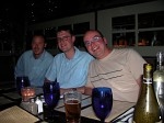 Meal on the last night - Mike, me and Ralf (from left to right)