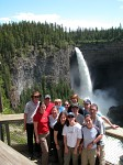 The group at Helmcken Falls in Wells Grey National Park