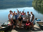 Canoe trip on Clearwater Lake