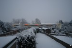 Slightly blurred, but proof that trains do sometimes run in the snow in England!
