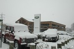 Land Rover garage on Broad Oak Road - sensible transport for a day like today!