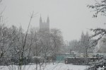 Canterbury Cathedral from Broad Oak Road