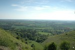 View towards Ashford from the Devil's Kneading Trough at Wye
