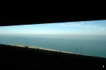 View out over the English Channel from inside one of the Second World War defences