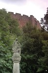 Statue of Lady �thelfleda in front of Tamworth Castle