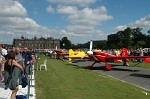 Planes lined up in the pit lane outside Longleat House