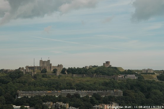 Dover Castle from Western Heights