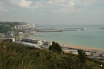Dover seafront and Eastern Docks from St. Martin's Battery