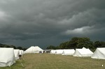 Stormclouds approaching over the campsite