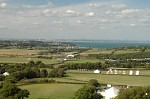 View over Bembridge and the Solent towards Portsmouth