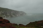 The Needles in a storm, from Alum Bay