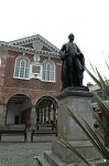 Tamworth Town Hall and statue of Sir Robert Peel