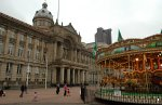 Birmingham Council Houses and carousel in Victoria Square