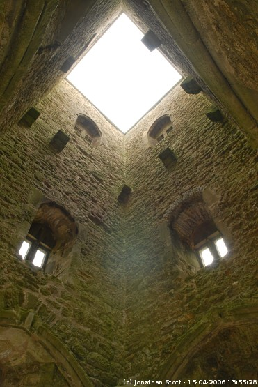 Inside St. Michael's Church tower, Glastonbury Tor
