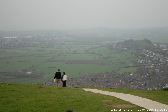 Looking west over the Somerset Levels from Glastonbury Tor