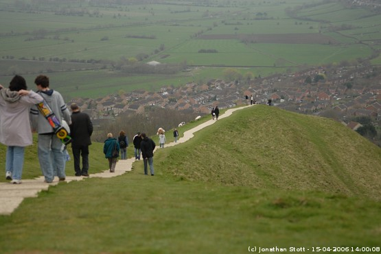 The path between the town of Glastonbury and the top of Glastonbury Tor