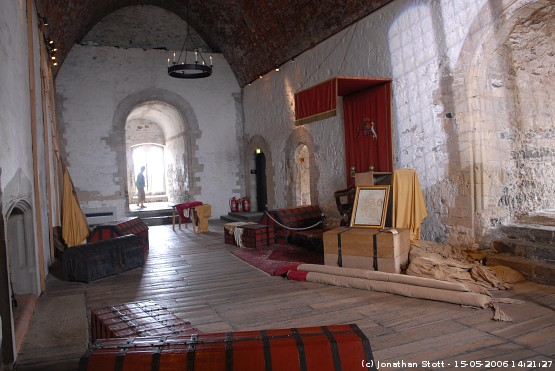 Great Hall inside the keep of Dover Castle