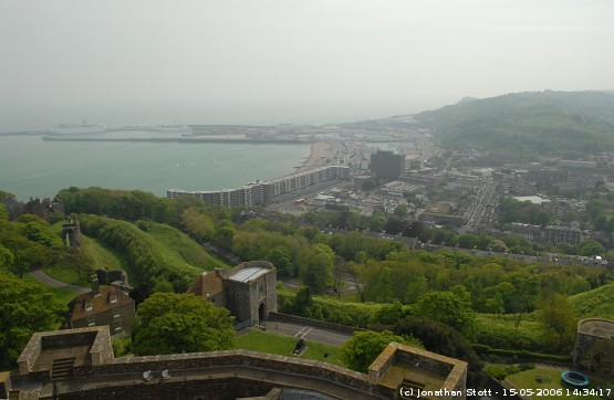 View of Dover from Dover Castle