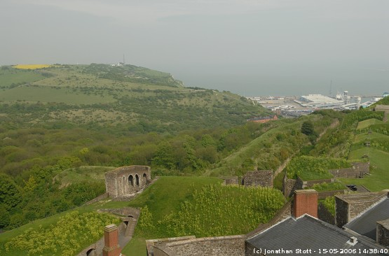 Looking towards the east from Dover Castle