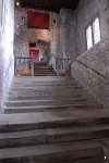 Entrance stairs inside the keep at Dover Castle