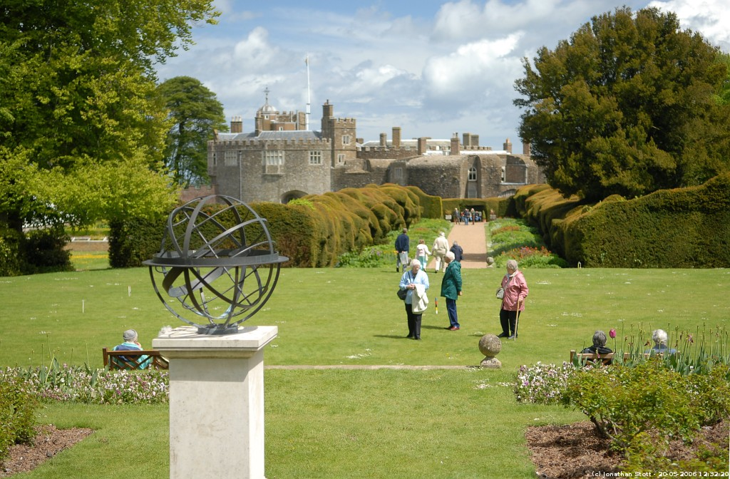 Sundial And Croquet Lawn At Walmer Castle