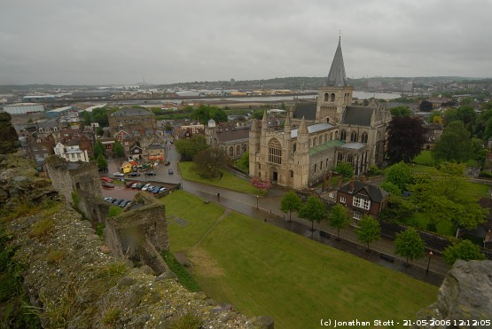 Rochester Cathedral from Rochester Castle