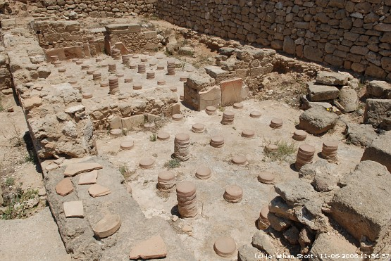 Hypocaust at the House of Orpheus, Kato Paphos