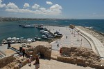 Harbour wall at Kato Paphos from the castle