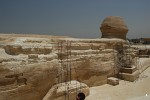 South flank of the Great Sphinx, Giza, Egypt