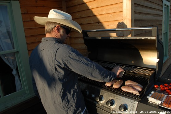 Barbequeing in Montana