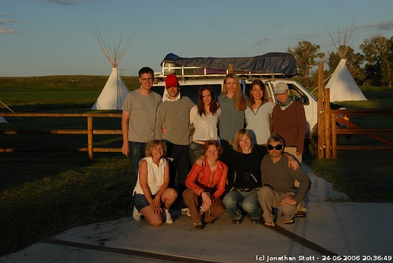 Group photo at the Guest Ranch, Montana