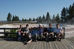 Group photo at Fountain Paint Pot, Yellowstone National Park