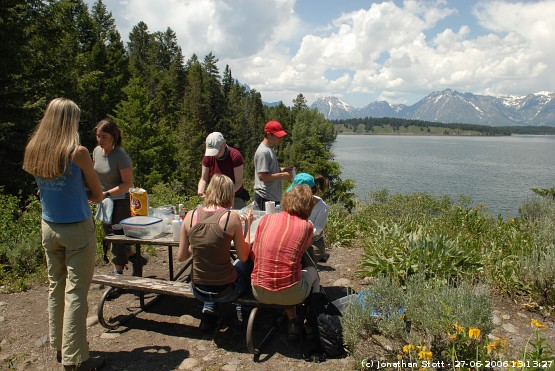 Lunch by Jackson Lake, Grand Teton National Park