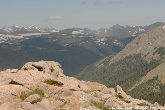 Views over Forest Canyon, Rocky Mountain National Park